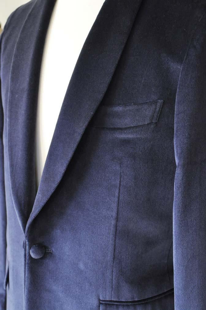 DSC0841-5 お客様のジャケットの紹介-DUGDALE ネイビーベルベットショールカラージャケット-DSC0841-5 お客様のジャケットの紹介-DUGDALE ネイビーベルベットショールカラージャケット- 名古屋市のオーダータキシードはSTAIRSへ
