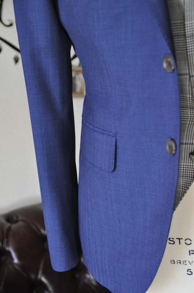 DSC1070-3 オーダータキシード(新郎衣装)の紹介-Biellesiネイビーヘリンボーンスーツ グレンチェックベスト-DSC1070-3 オーダータキシード(新郎衣装)の紹介-Biellesiネイビーヘリンボーンスーツ グレンチェックベスト- 名古屋市のオーダータキシードはSTAIRSへ