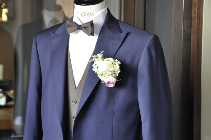DSC1947-1 オーダータキシード(新郎衣装)の紹介-Biellesiネイビースーツ ブラウンベスト-DSC1947-1 オーダータキシード(新郎衣装)の紹介-Biellesiネイビースーツ ブラウンベスト- 名古屋市のオーダータキシードはSTAIRSへ