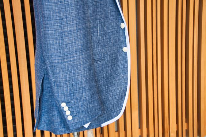 DSC0205 ネイビーパイピングジャケットDSC0205 ネイビーパイピングジャケット 名古屋市のオーダータキシードはSTAIRSへ